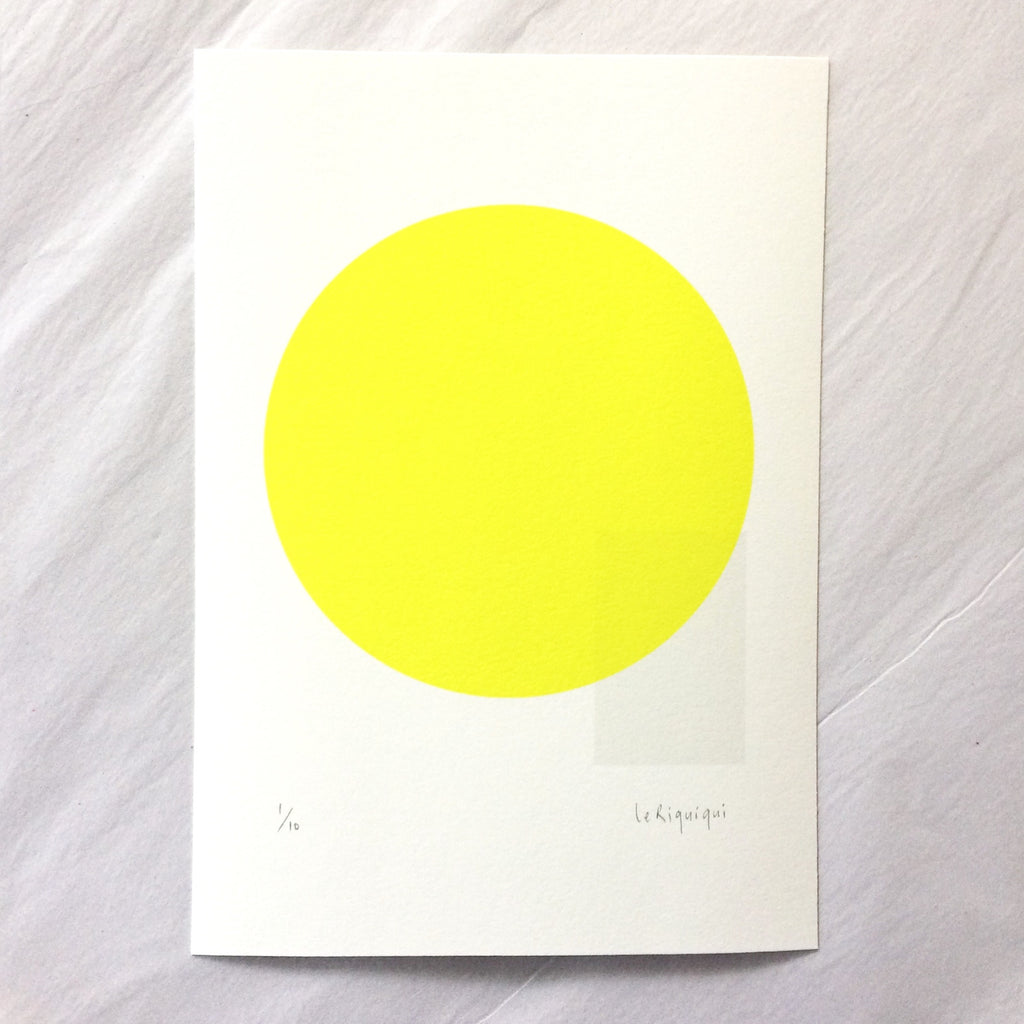 36 + Sunny. Limited edition miniprint.