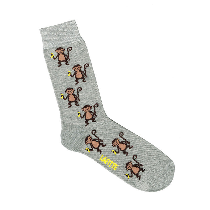 Monkey Socks Grey