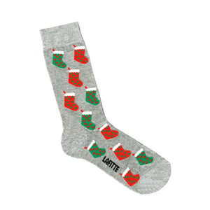Christmas Stockings Socks Grey