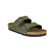 Load image into Gallery viewer, Birkenstock Arizona Olive Vegan