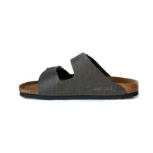 Load image into Gallery viewer, Birkenstock Arizona Pull Up Anthracite Vegan