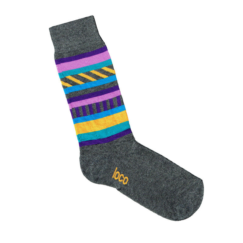 Stripe Socks Grey