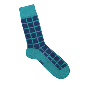 Square Socks Teal