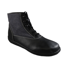 Load image into Gallery viewer, Scotchmer boots, Black & Charcoal Black Sole_Vegan Shoes_Vegan Wares