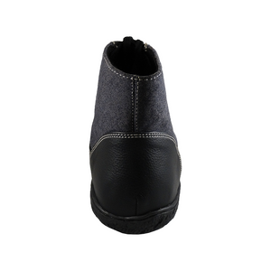 Scotchmer boots, Black & Charcoal Black Sole_Vegan Shoes_Vegan Wares