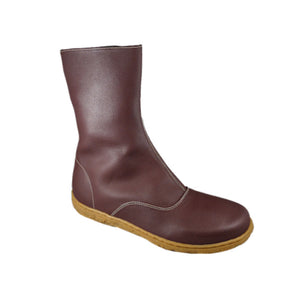 Spencer zip boot, Aubergine, beige sole_Vegan Shoes_Vegan Wares