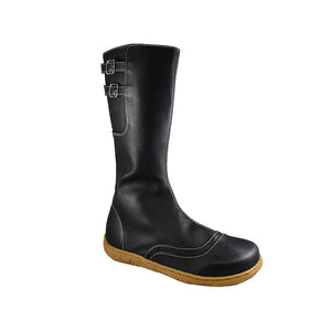 Swanston zip boot, Black, cream sole_Vegan Shoes_Vegan Wares