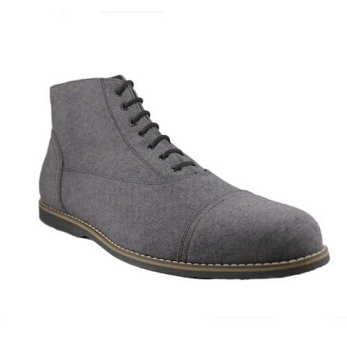 Worthington ankle boots, charcoal sueda_Vegan Shoes_Vegan Wares