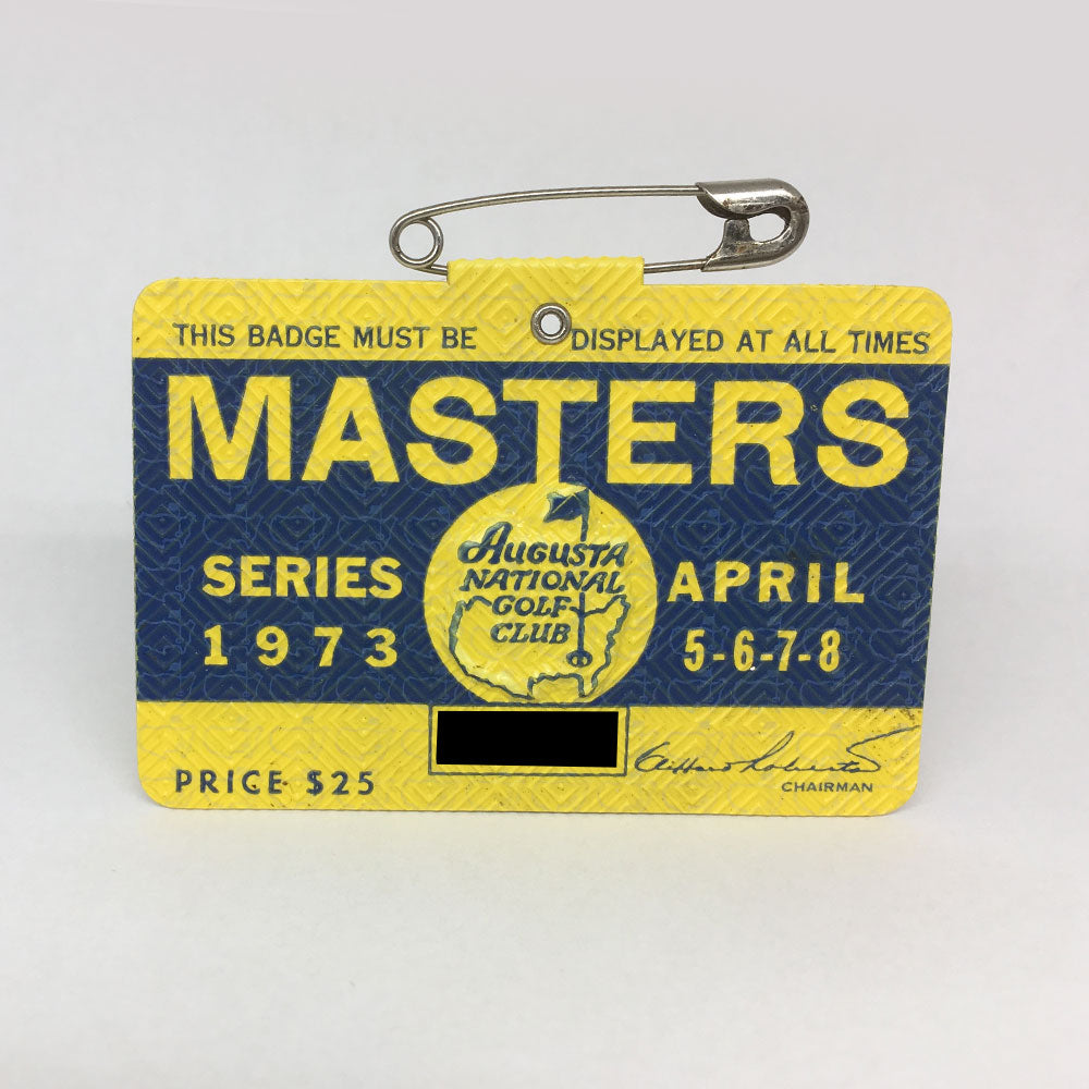 1973 Masters Badge :: Tommy Aaron