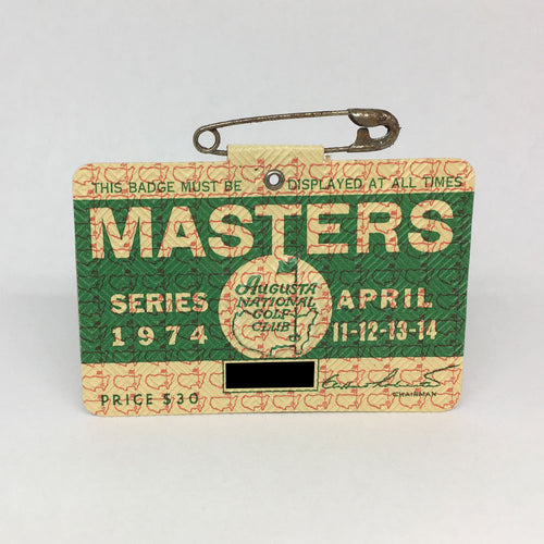 1974 Masters Badge :: Gary Player