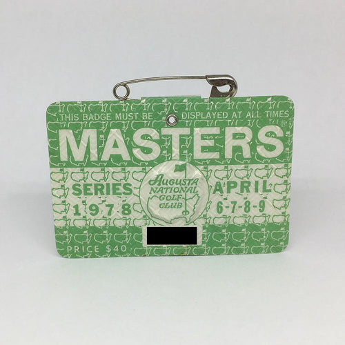 1978 Masters Badge :: Gary Player