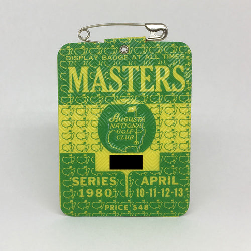 1980 Masters Badge :: Seve Ballesteros
