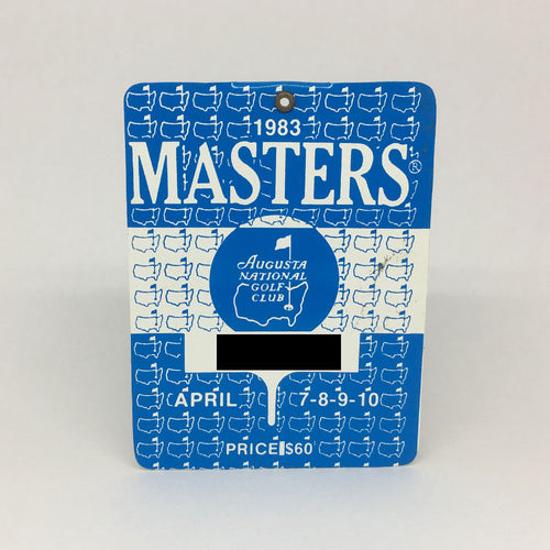 1983 Masters Badge :: Seve Ballesteros