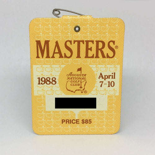 1988 Masters Badge :: Sandy Lyle