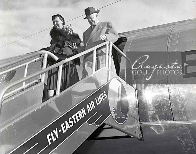 Dwight Eisenhower Stepping off Air Force One
