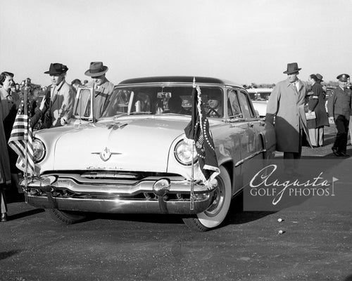 Dwight Eisenhower in the Presidential Car