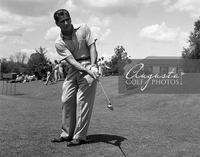 Gary Player Chipping at the Augusta National
