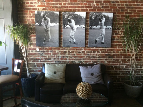 Arnold Palmer Swing Series Triptych **sold**