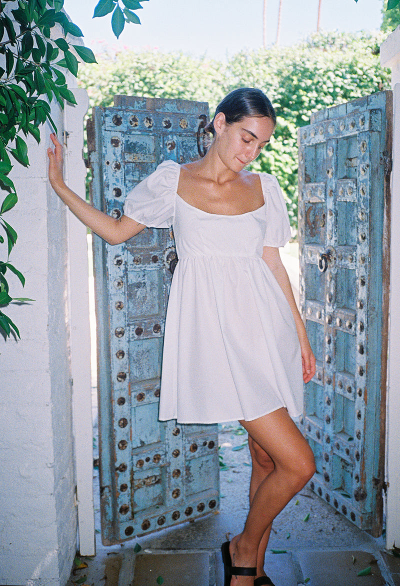 Delfina Dress White Cotton