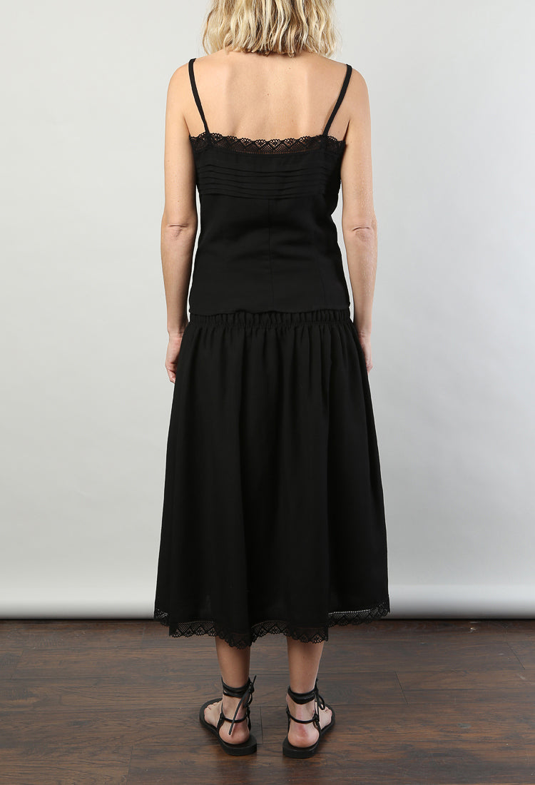 Giulia Top Black Linen
