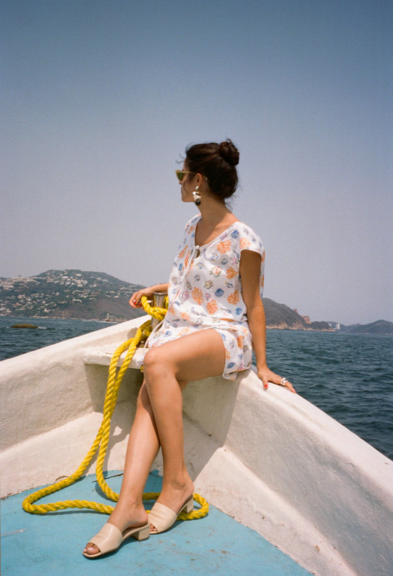 Marina Dress Souvenir Print
