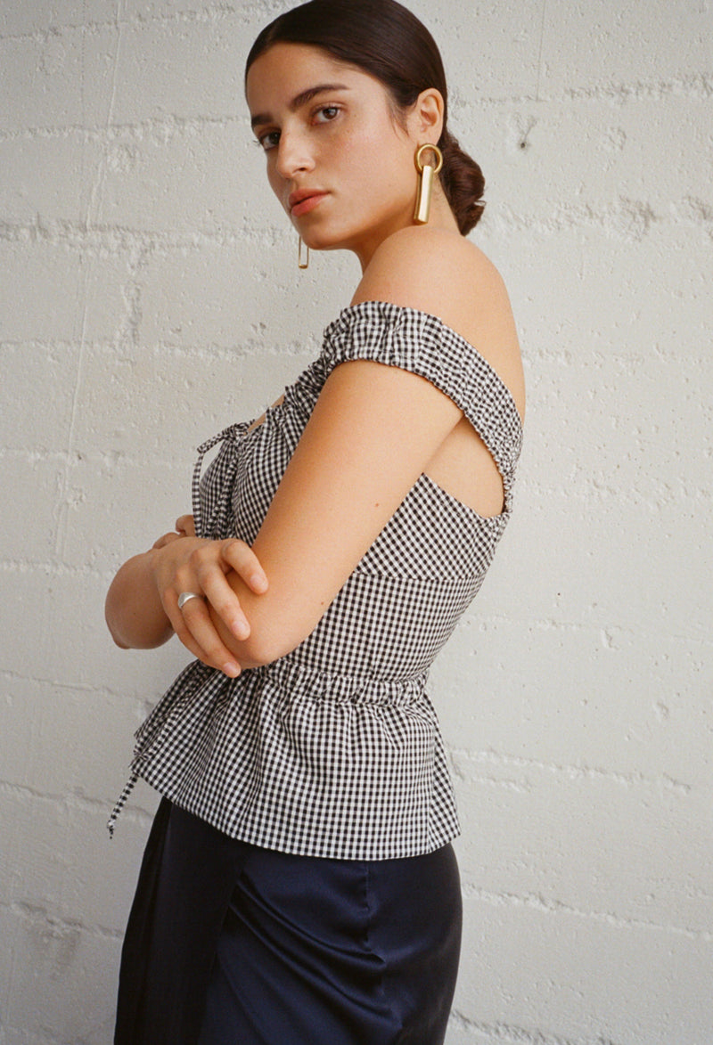 Ilaria Top Gingham SPECIAL ORDER