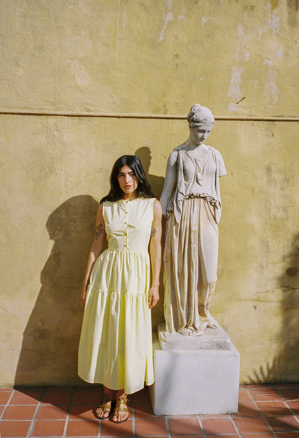 Freya Dress Light Yellow