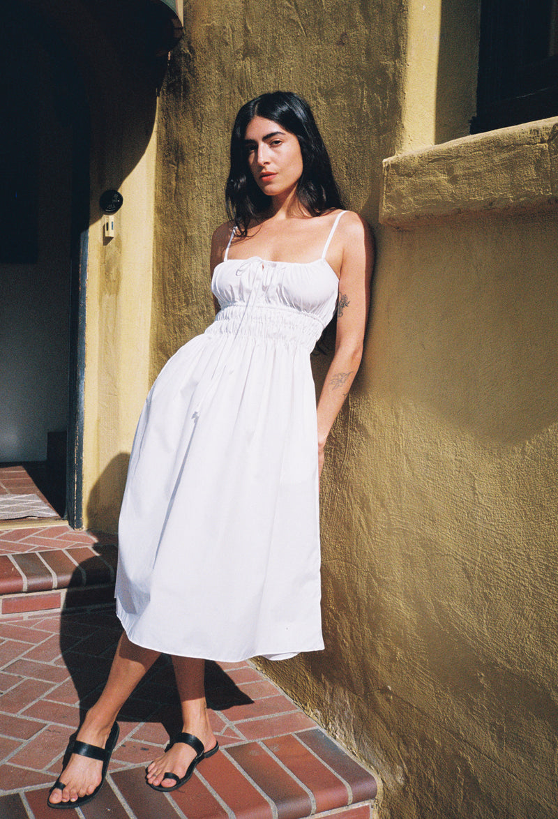 Gabriela Dress Washed White Cotton