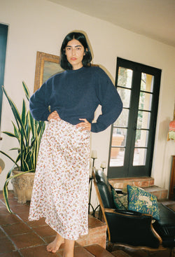 Roma Skirt Garden Silk Charmeuse