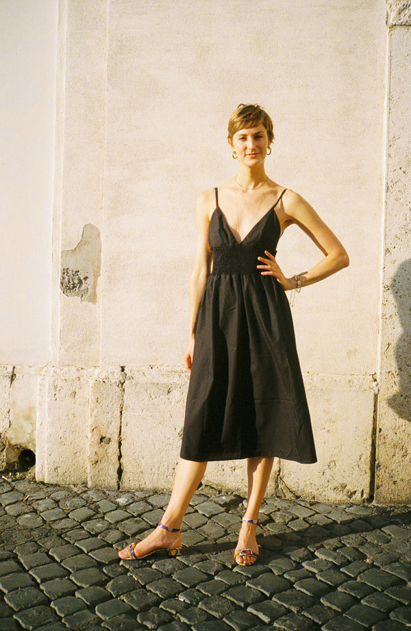 Ravello Dress Black Cotton