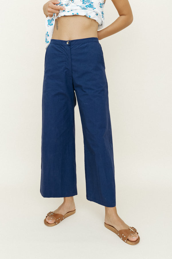 Orlando Pant Navy Washed Cotton