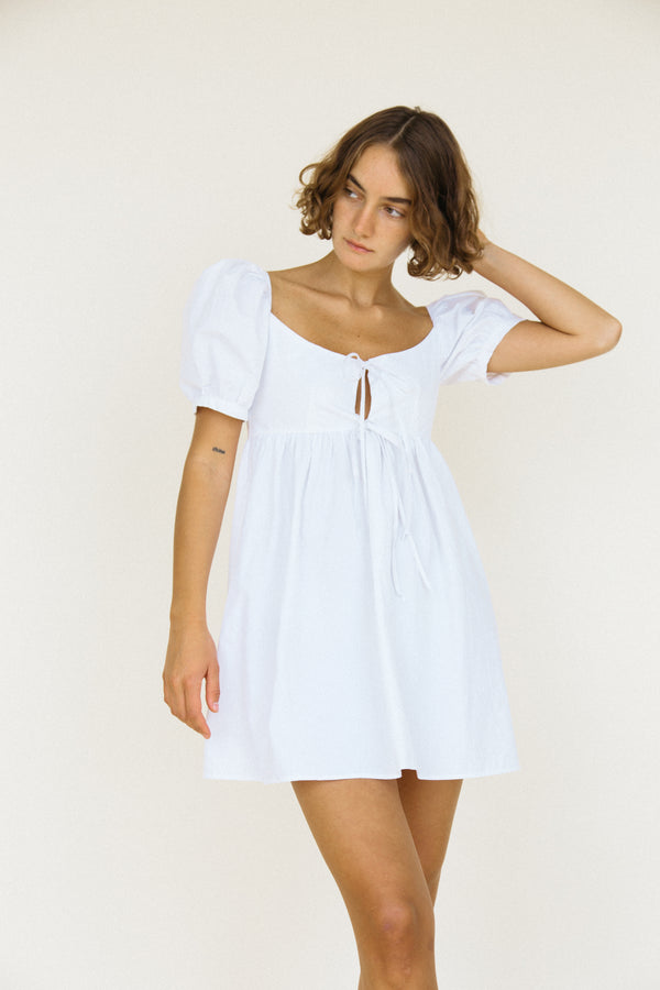 Ischia Dress White Washed Cotton