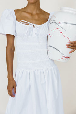 Chiara Dress White Washed Cotton
