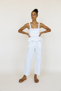 Isla Top White Washed Cotton