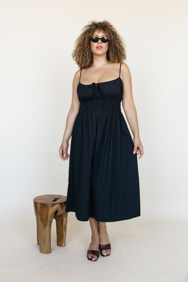 Gabriela Dress Black Cotton