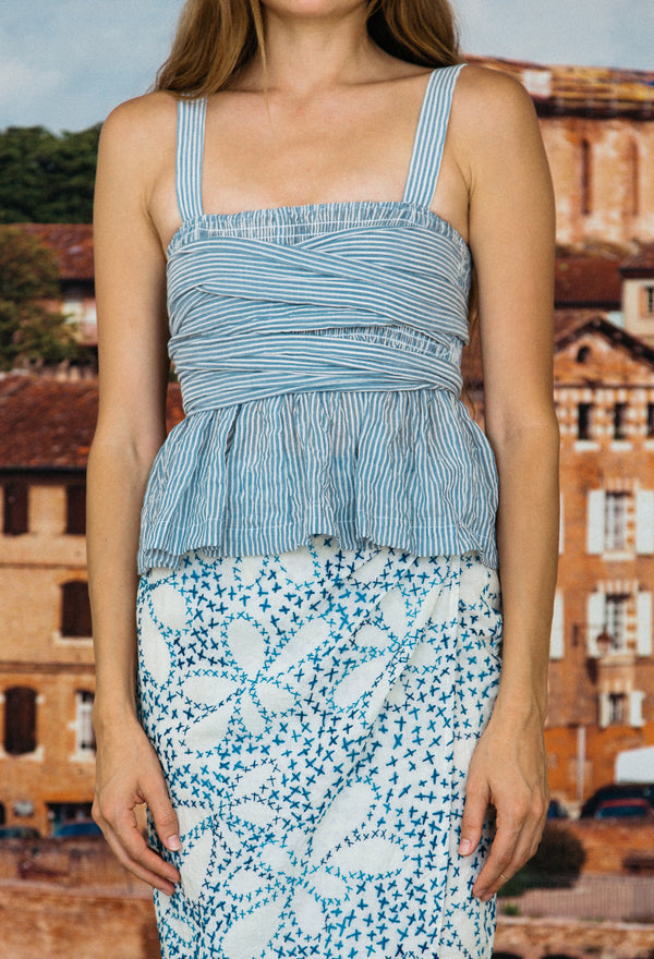 Isla Top French Blue Stripe