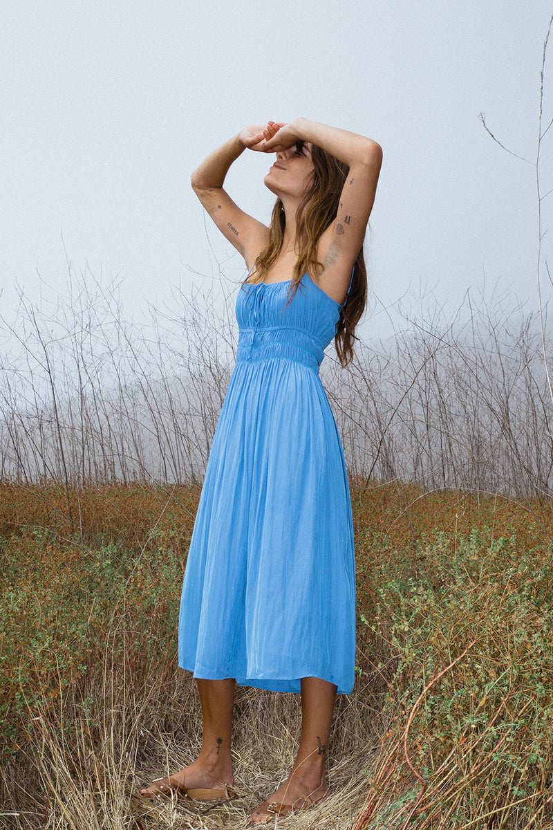 Gabriela Dress Amalfi Blue