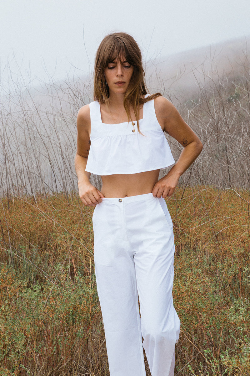 Eva Top White Cotton