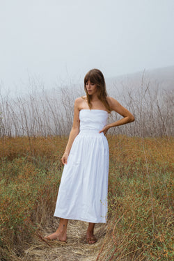 Gia Dress White Cotton