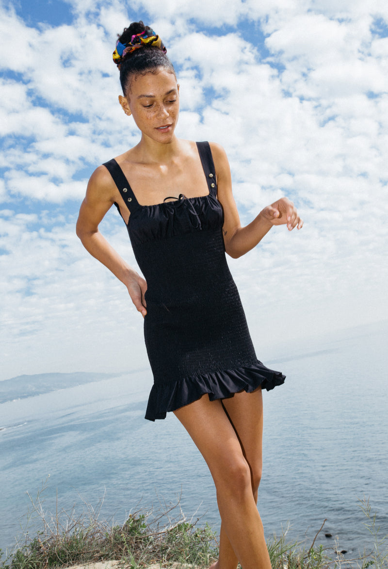 Cara Dress Black Cotton