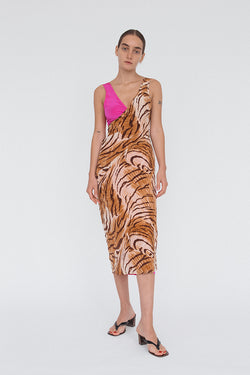 Marguerita Dress Tiger/Fuchsia