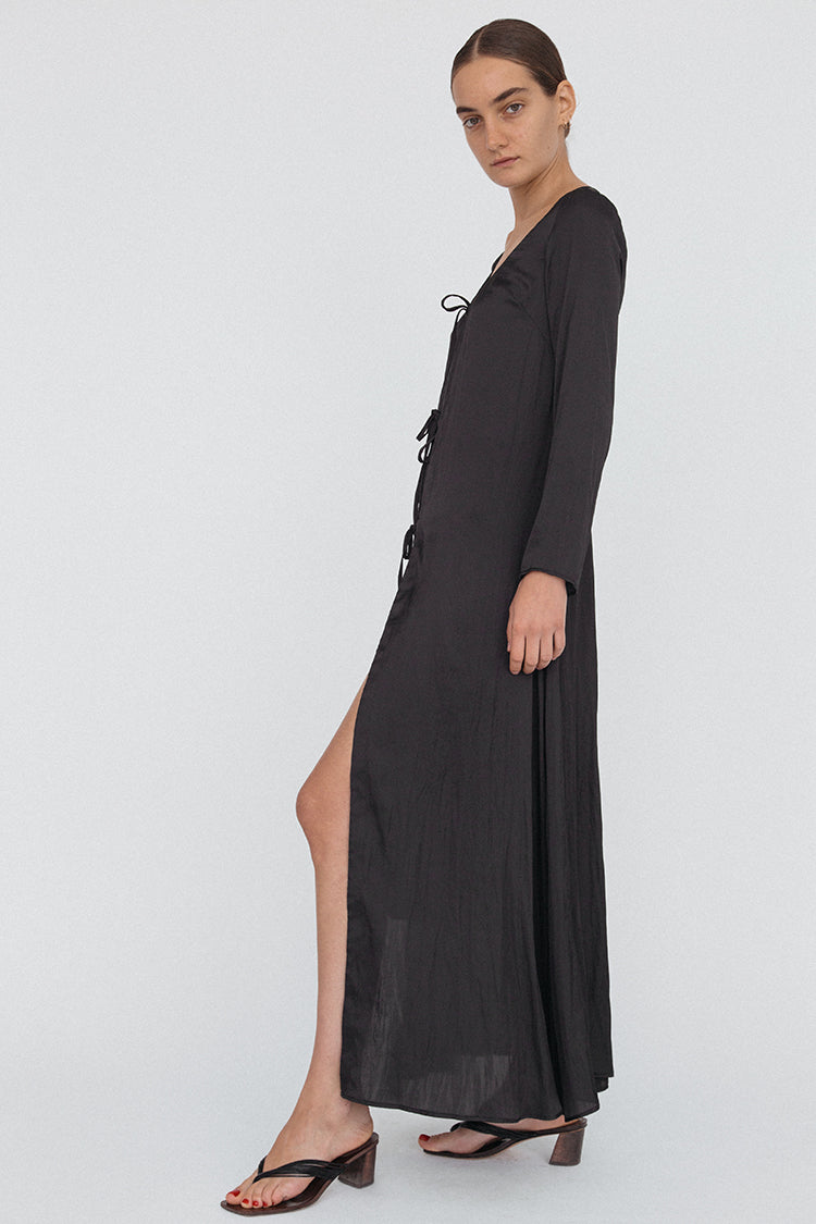 Mila Dress Matte Black