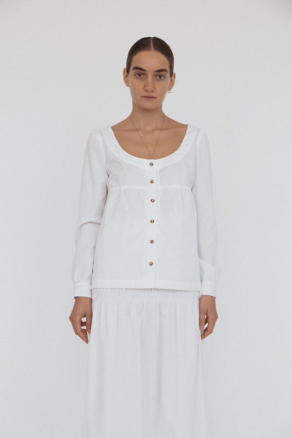Ines Top White Cotton