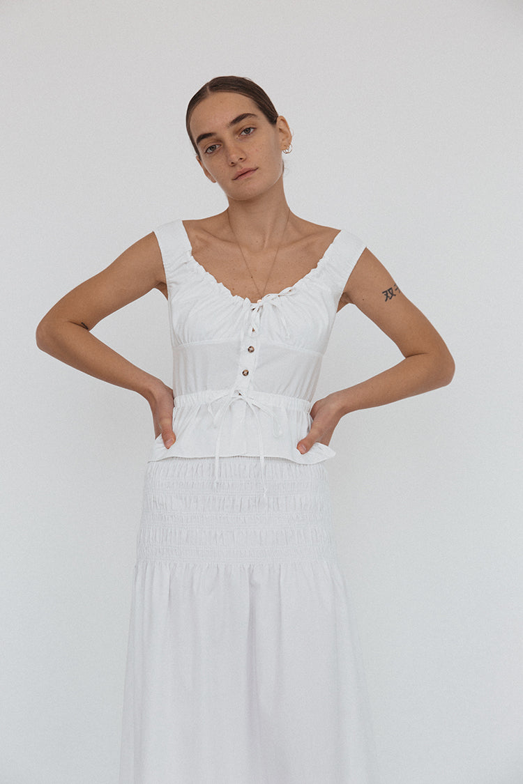 Ilaria Top White Cotton