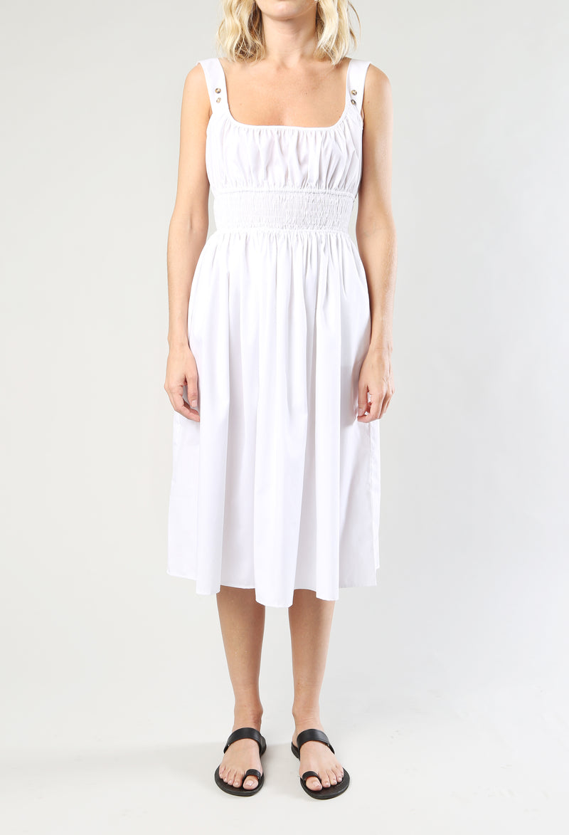 Lara Dress White Cotton