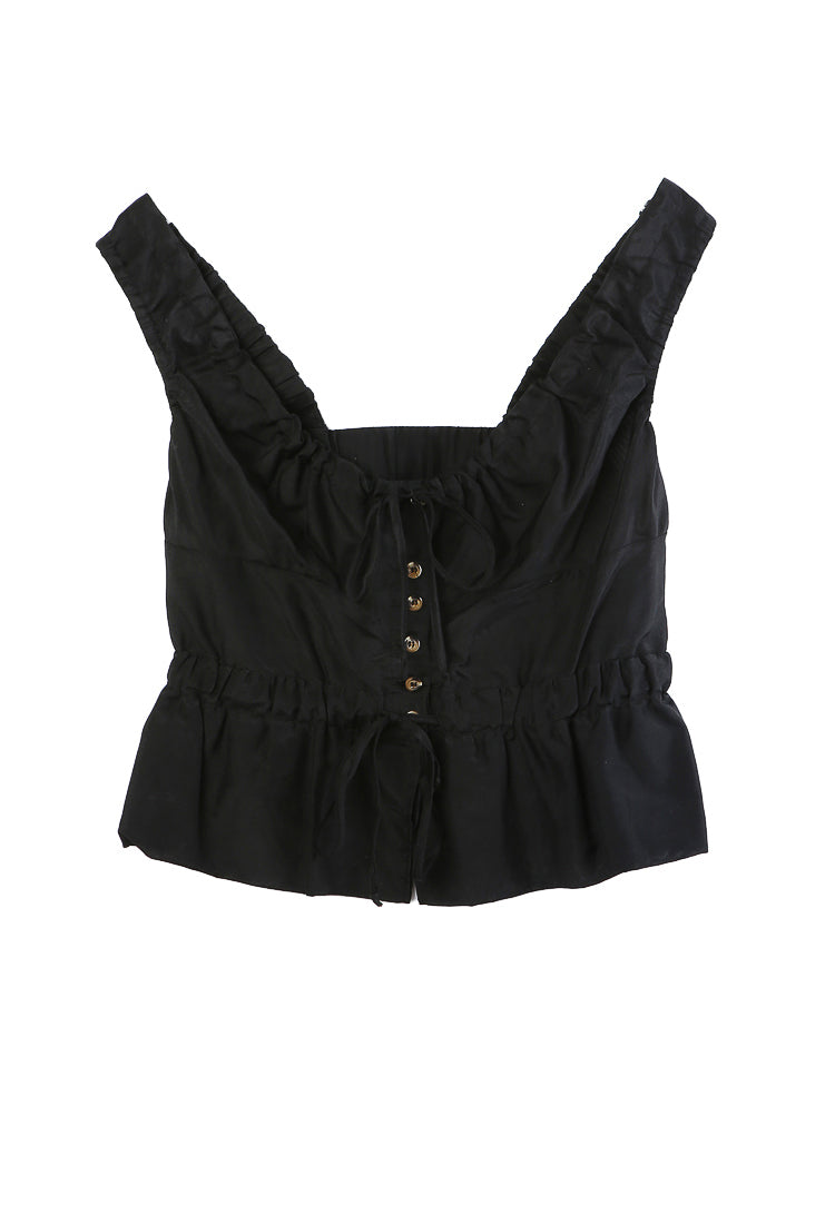Ilaria Top Black Cotton