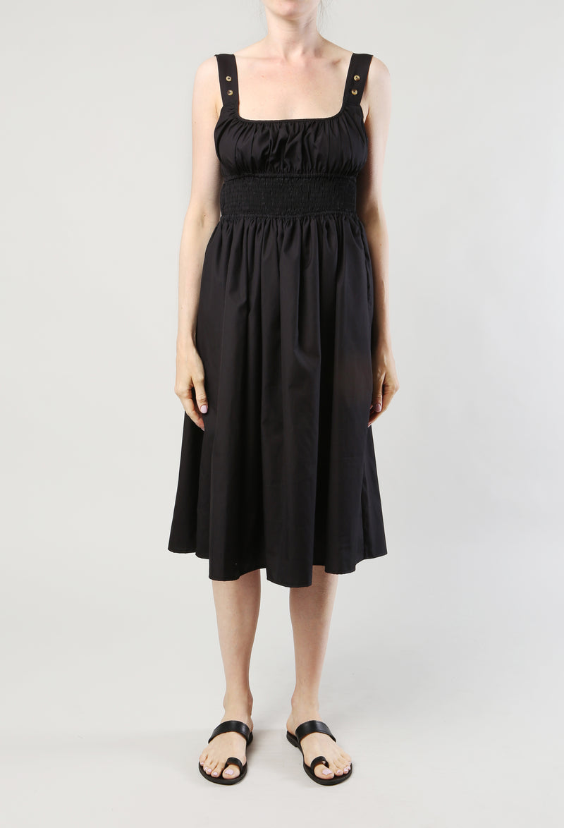 Lara Dress Black Cotton