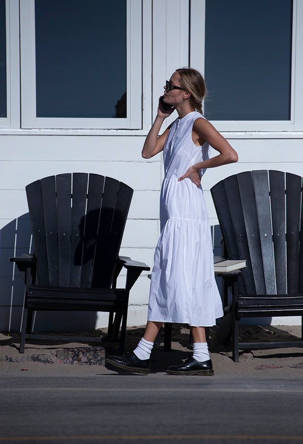 Freya Dress White Washed Cotton