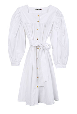 Fabiana Dress White Cotton