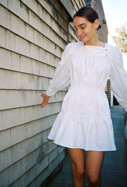 Alessandra Dress White Cotton